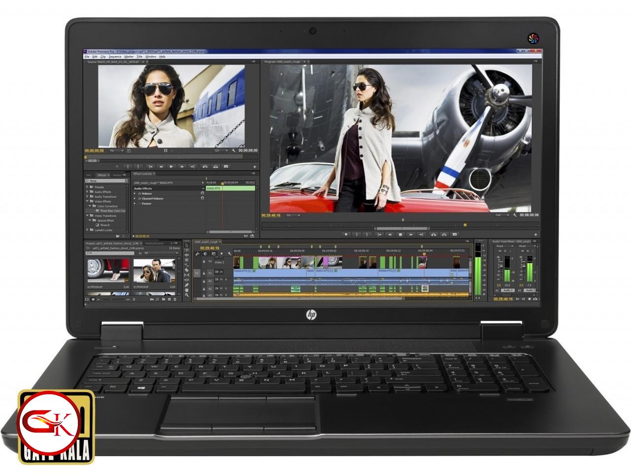 لپ تاپ مهندسی و گیمینگ  اچ پی HP Zbook 17 با  CPU CORI7 4790 QM