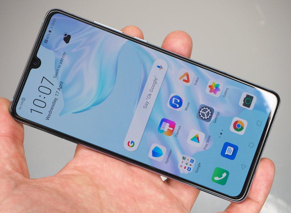 صفحه نمایش Huawei p30